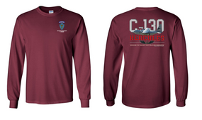 """36th Infantry Division (Airborne)  """"C-130""""  Long Sleeve Cotton Shirt"""