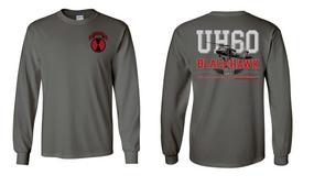 "9th Infantry Regiment  ""UH-60"" Long Sleeve Cotton Shirt"