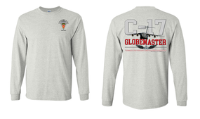 "4th Brigade Combat Team (Airborne)  ""C-17 Globemaster""  Long Sleeve Cotton Shirt"