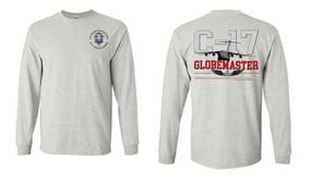 """82nd Hqtrs & Hqtrs Battalion """"C-17 Globemaster""""  Long Sleeve Cotton Shirt"""