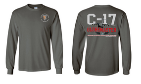 "82nd Signal Battalion ""C-17 Globemaster""  Long Sleeve Cotton Shirt"