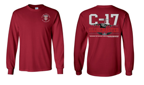 "307th Combat Engineer Battalion (Airborne) ""C-17 Globemaster""  Long Sleeve Cotton Shirt"