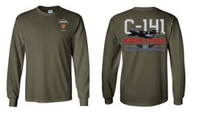 "4th Brigade Combat Team (Airborne) ""C-141 Starlifter"" Long Sleeve Cotton Shirt"
