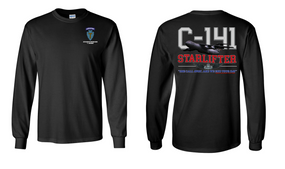 """36th Infantry Division (Airborne) """"C-141 Starlifter"""" Long Sleeve Cotton Shirt"""