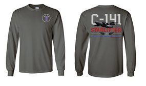 "172nd Infantry Brigade (Airborne) ""C-141 Starlifter"" Long Sleeve Cotton Shirt"