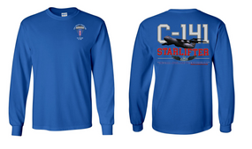 """193rd Infantry Brigade (Airborne)  """"C-141 Starlifter"""" Long Sleeve Cotton Shirt"""