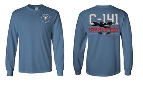 "313th MI Battalion (Airborne)  ""C-141 Starlifter"" Long Sleeve Cotton Shirt"