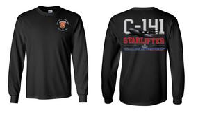 """319th Airborne Field Artillery Regiment """"C-141 Starlifter"""" Long Sleeve Cotton Shirt"""