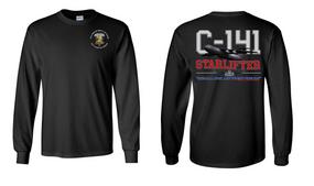 "407th Brigade Support Battalion  ""C-141 Starlifter"" Long Sleeve Cotton Shirt"
