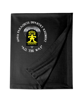 509th Parachute Infantry Regiment (C)  Embroidered Dryblend Stadium Blanket