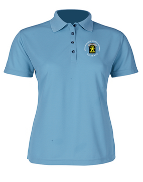 509th Parachute Infantry Regiment (C)  Ladies Embroidered Moisture Wick Polo Shirt