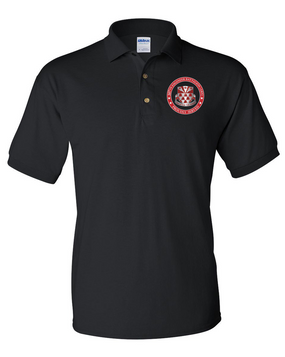 307th Combat Engineer Battalion (Airborne) Embroidered Cotton Polo Shirt