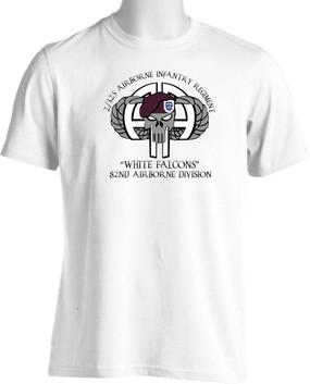 "2/325th ""White Falcons"" Short-Sleeve Moisture Wick Shirt"