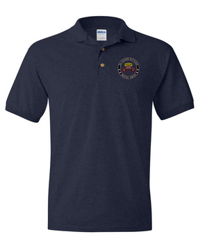"""2-75th Ranger Battalion (Original Scroll-Tab)  """"Proudly Served"""" Embroidered Cotton Polo Shirt"""