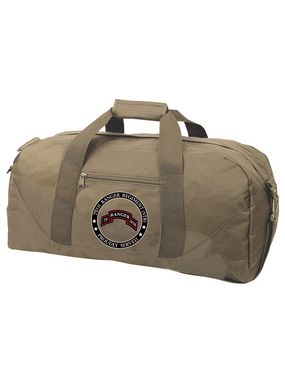 """75th Ranger Regiment (STB)-  """"Proudly Served"""" Embroidered Duffel Bag"""