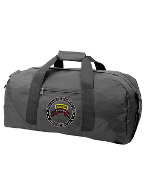 """75th Ranger Regiment (STB)-Tab-  """"Proudly Served"""" Embroidered Duffel Bag"""
