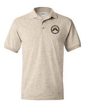 """75th Ranger Regiment (STB)-Tab- """"Proudly Served"""" Embroidered Cotton Polo Shirt"""
