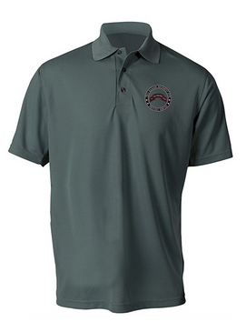 """75th Ranger Regiment (STB) """"Proudly Served""""  Embroidered Moisture Wick Polo Shirt"""