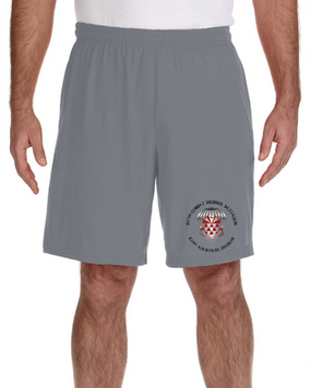 307th Combat Engineer Battalion Embroidered Gym Shorts
