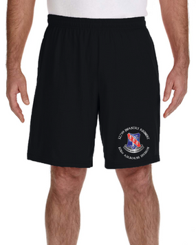327th Infantry Regiment Embroidered Gym Shorts