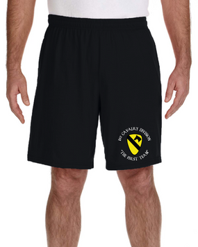 1st Cavalry Division Embroidered Gym Shorts