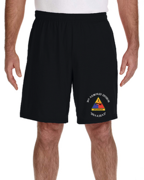 3rd Armored Division Embroidered Gym Shorts