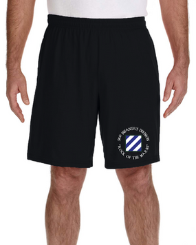 3rd Infantry Division Embroidered Gym Shorts