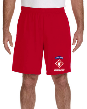 20th Engineer Brigade (Airborne) Embroidered Gym Shorts