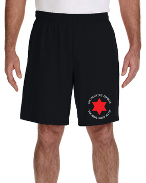 6th Infantry Division Embroidered Gym Shorts