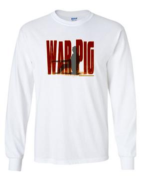 The Pig Long-Sleeve Cotton T-Shirt  (FF)