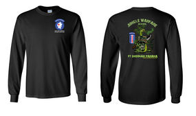 193rd Infantry Brigade (Airborne) Jungle Master JOTC Long-Sleeve Cotton T-Shirt