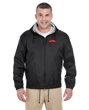 Sapper Embroidered Fleece-Lined Hooded Jacket
