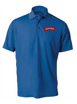 Sapper Embroidered Moisture Wick Polo Shirt