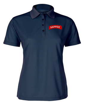 Sapper Ladies Embroidered Moisture Wick Polo Shirt