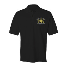 Company D 16th Armor Embroidered Cotton Polo Shirt (2)