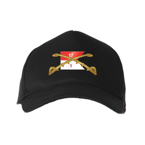 """1st Squadron 17th Cavalry Regiment """"Crest""""  Embroidered Baseball Cap"""