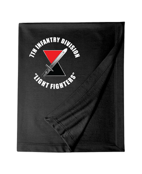 7th Infantry Division Embroidered Dryblend Stadium Blanket  (C)