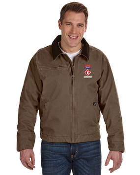 """20th Engineers (Airborne) """"Sapper""""  Embroidered DRI-DUCK Outlaw Jacket"""
