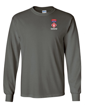 "20th Engineers (Airborne) ""Sapper""  Long-Sleeve Cotton T-Shirt"