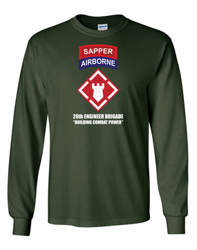 "20th Engineers (Airborne) ""Sapper""  Long-Sleeve Cotton T-Shirt (FF)"