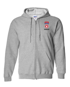 "20th Engineers (Airborne) ""Sapper""  Embroidered Hooded Sweatshirt with Zipper"