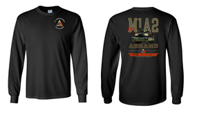 1st Armored Division Long-Sleeve Cotton T-Shirt (F)