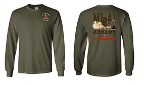 1st Armored Division Long-Sleeve Cotton T-Shirt (S)