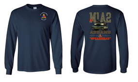 3rd Armored Division Long-Sleeve Cotton T-Shirt (F)