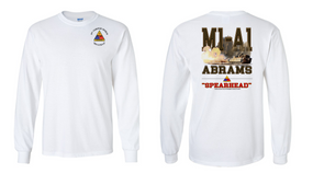 3rd Armored Division Long-Sleeve Cotton T-Shirt (S)