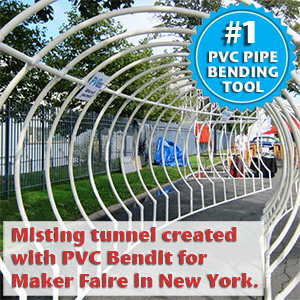 pvc pipe bending tool created misting tunnel