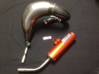 KTM SX 85 2004 - 2017 HGS EXHAUST SYSTEM WITH ORANGE MUFFLER
