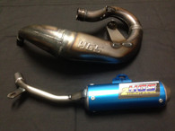 KTM SX 50 2016-2018 HGS EXHAUST SYSTEM WITH BLUE MUFFLER