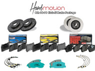 EBC ULTIMAX ROTOR: USR1473 (front) + USR7345 (rear) HAWK HPS: HB145F.570 + HB361F.622 HAWK CERAMIC: HB145Z.570 (rear) + HB361Z.622 (front) PROJECT MU B-FORCE: PBF336 + PBR389 PROJECT MU NS-400: PS4F336 + PS4R389 STOP TECH PADS: 309.08290 + 309.05370 STOP TECH ROTORS: 120.40057 (F) + 120.40040 (R) (be sure to add 2qty for each) STOP TECH ROTORS (SLOTTED) REAR: 126.40040SL + 126.40040SR | FRONT: 126.40057SL + 126.40057SR RUSSELL SS-LINE: 684470 GOODRIDGE SS LINE: 20024 TECHNAFIT: HN-1345 STOPTECH SS LINE: 950.40011 950.40511