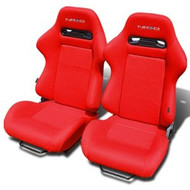 NRG Innovations Type-R Style Seat Set Pair - Red or Black